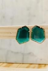 The Golden House Oorringen 'Cateye' - Emeraldgreen