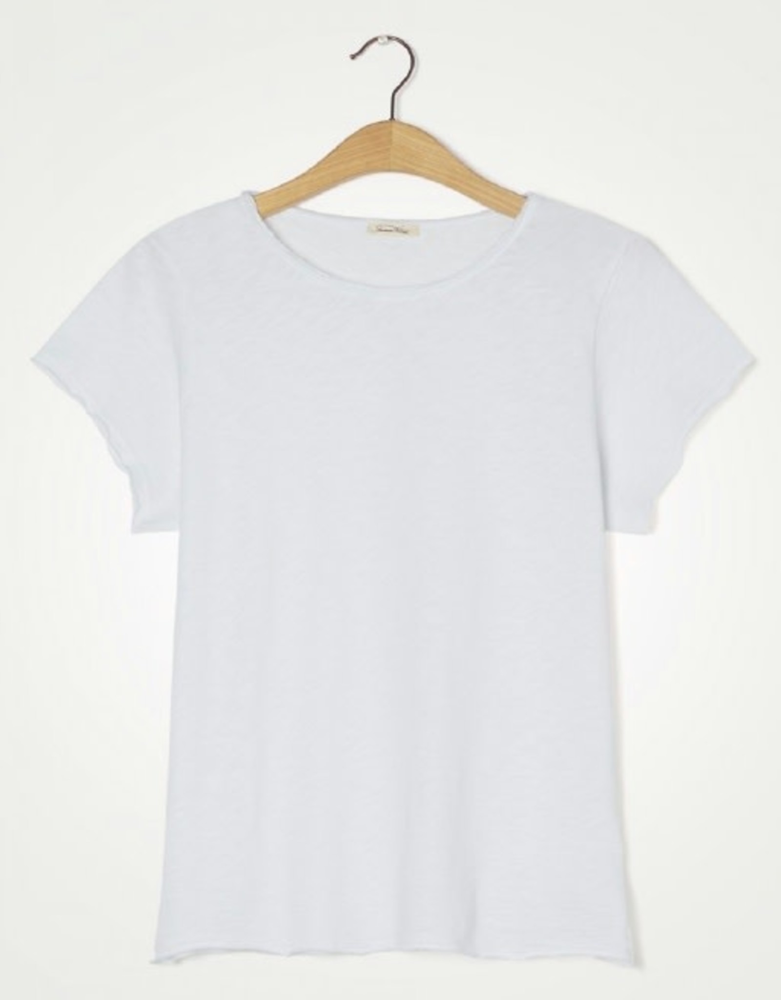 American Vintage T-shirt 'Sonoma' Boothals - Wit - American Vintage