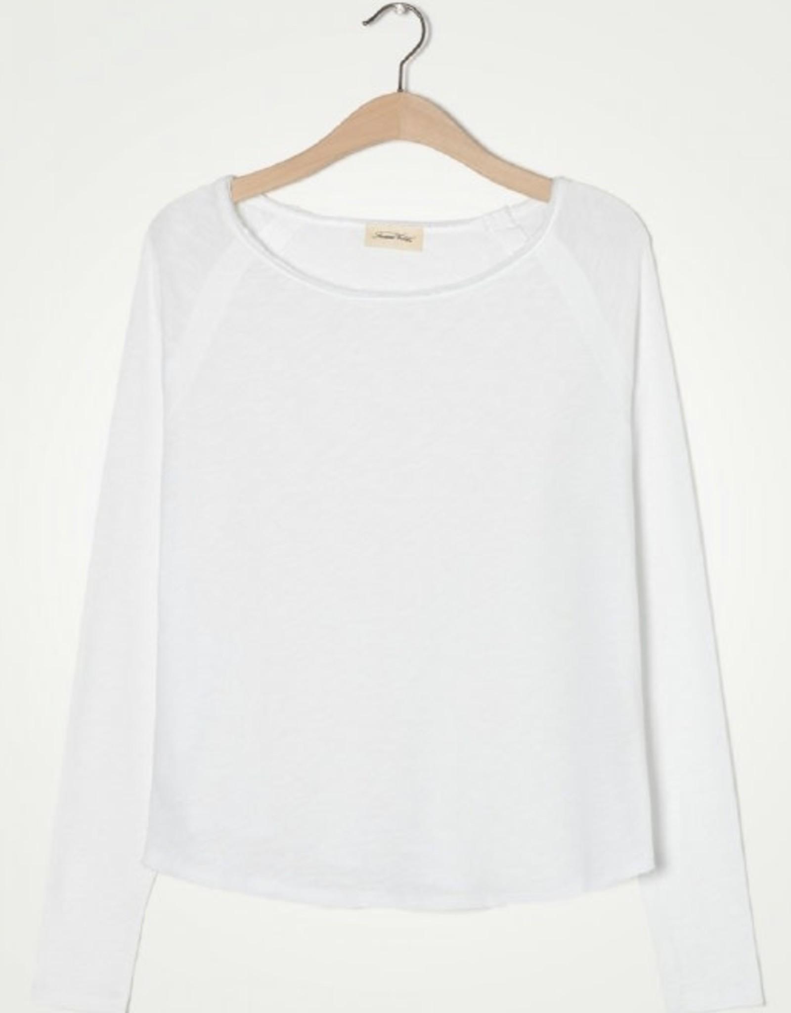 American Vintage T-shirt 'Sonoma' Boothals Lange mouwen - Wit - American Vintage