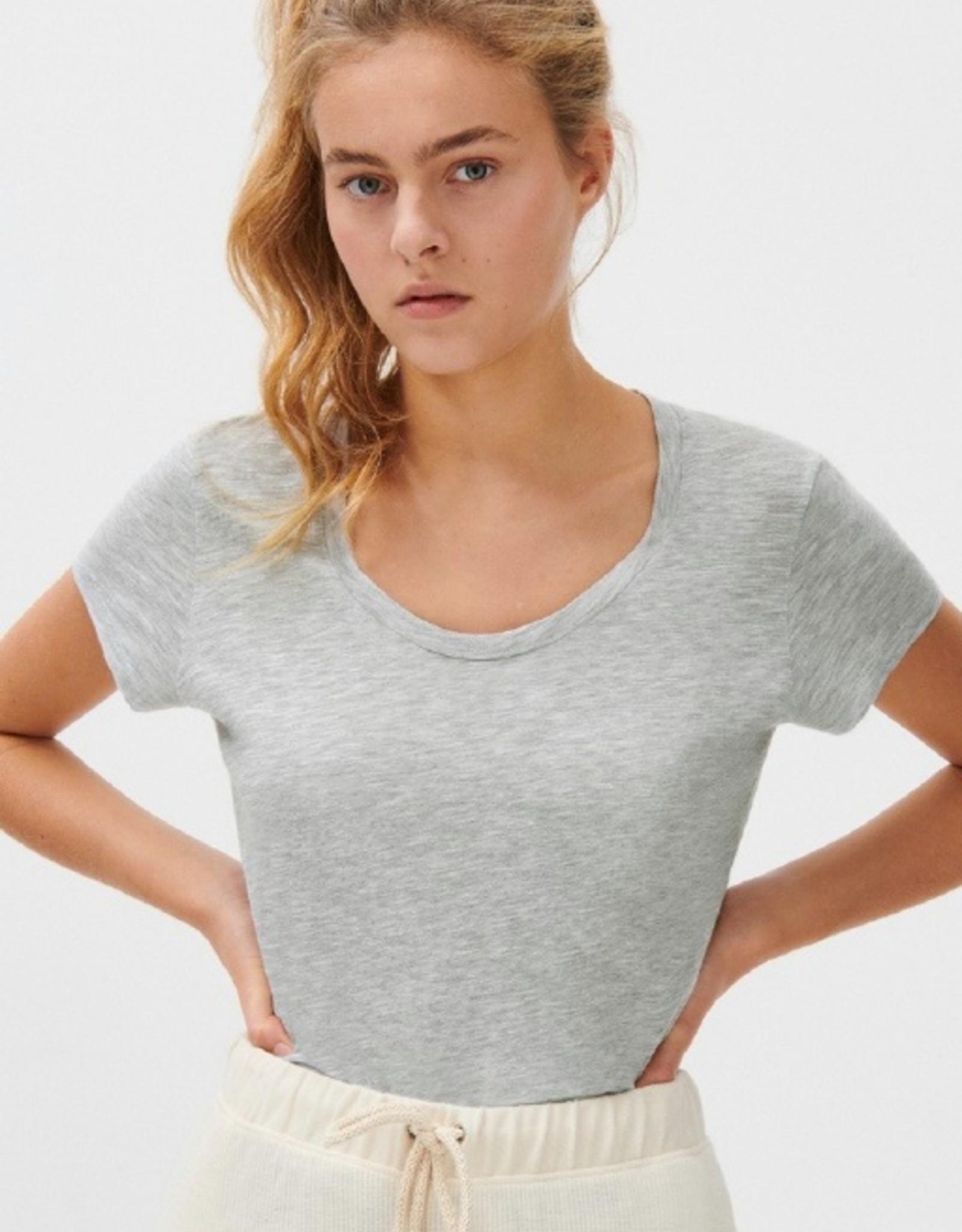 American Vintage T-shirt 'Jacksonville' ronde hals - Vintage roze