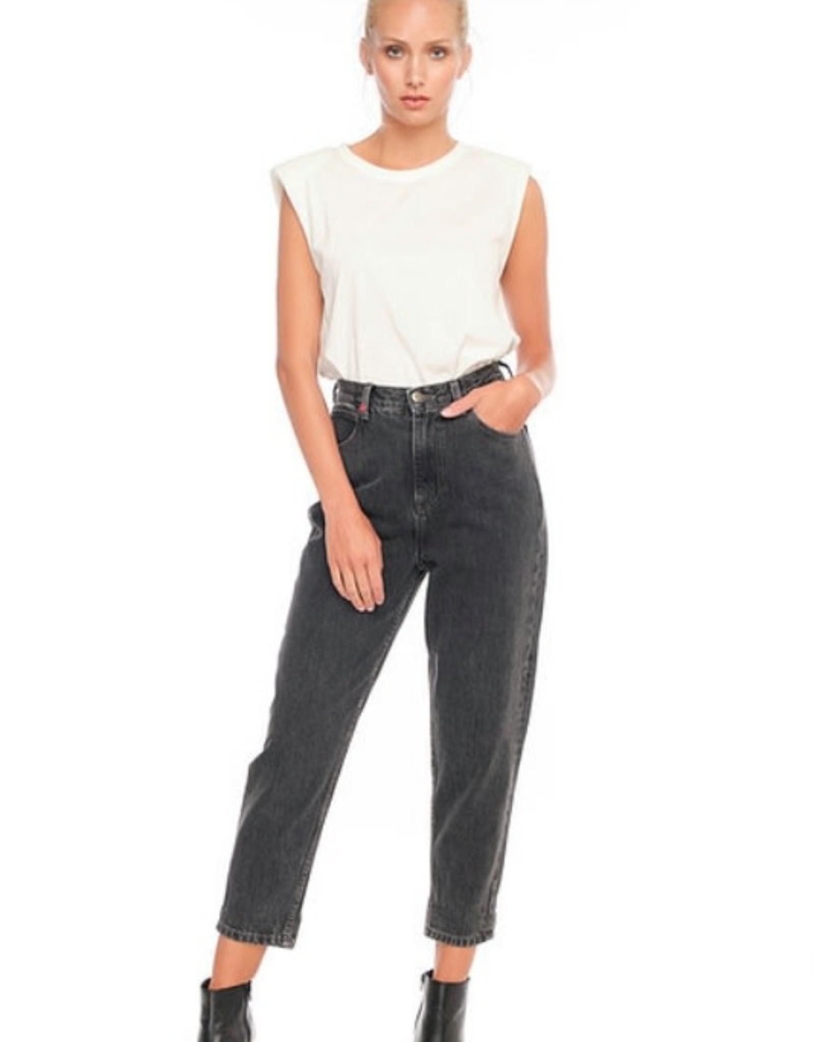 F.A.M. Jeans F.A.M. 'Lily' Balloon Cropped - Black