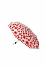 Becksöndergaard Paraplu 'Poppy Transparent' - Fiery Red - Becksöndergaard