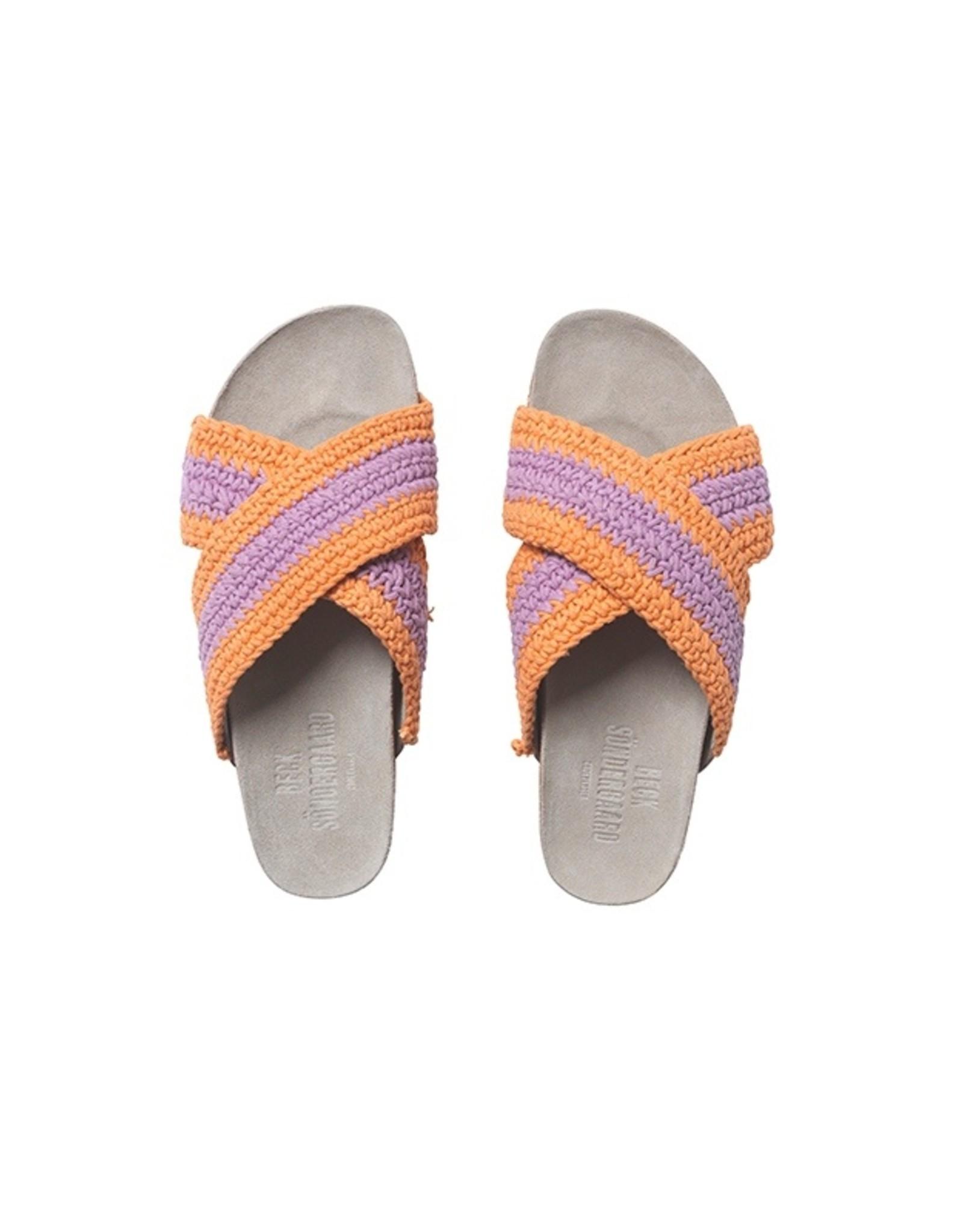 Becksöndergaard Slippers 'Yvonne Crochet' - Lilac - Becksöndergaard