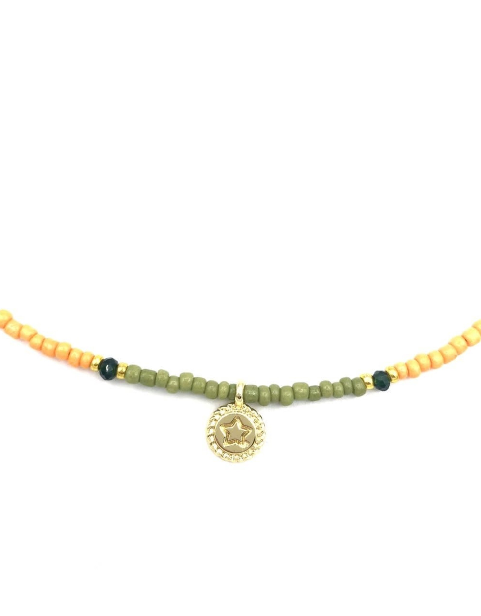 The Golden House Small coin star necklace gold