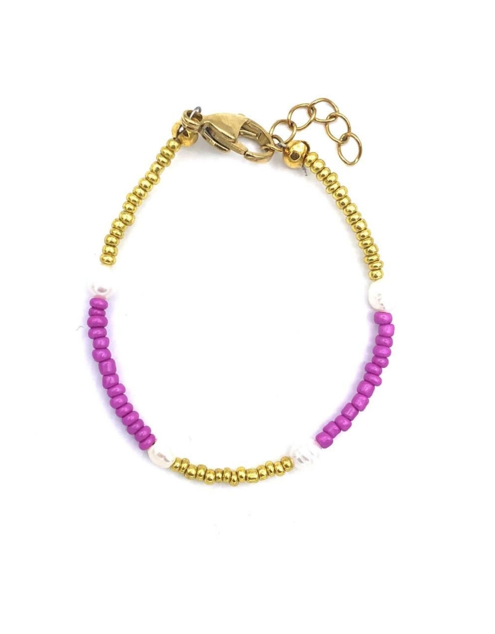 The Golden House Pink gold pearl bracelet