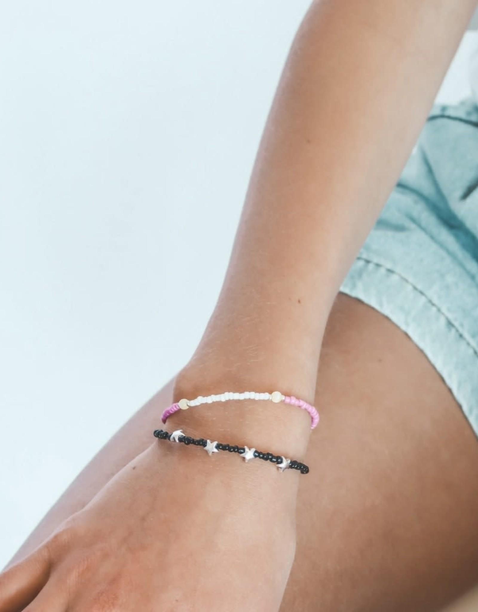 The Golden House Pink yellow white bracelet