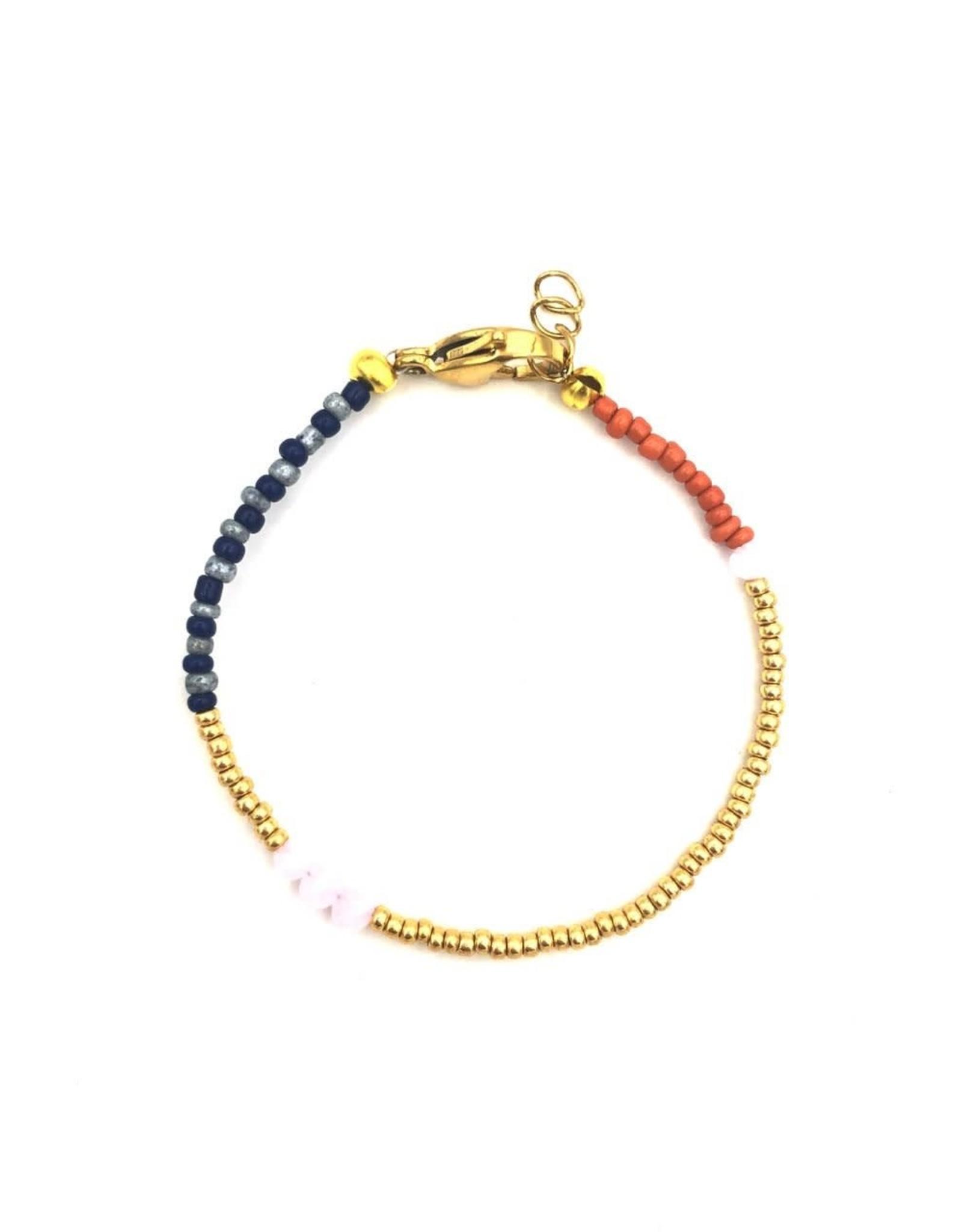 The Golden House Brown blue bracelet gold