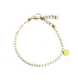 The Golden House Gold white bracelet coin