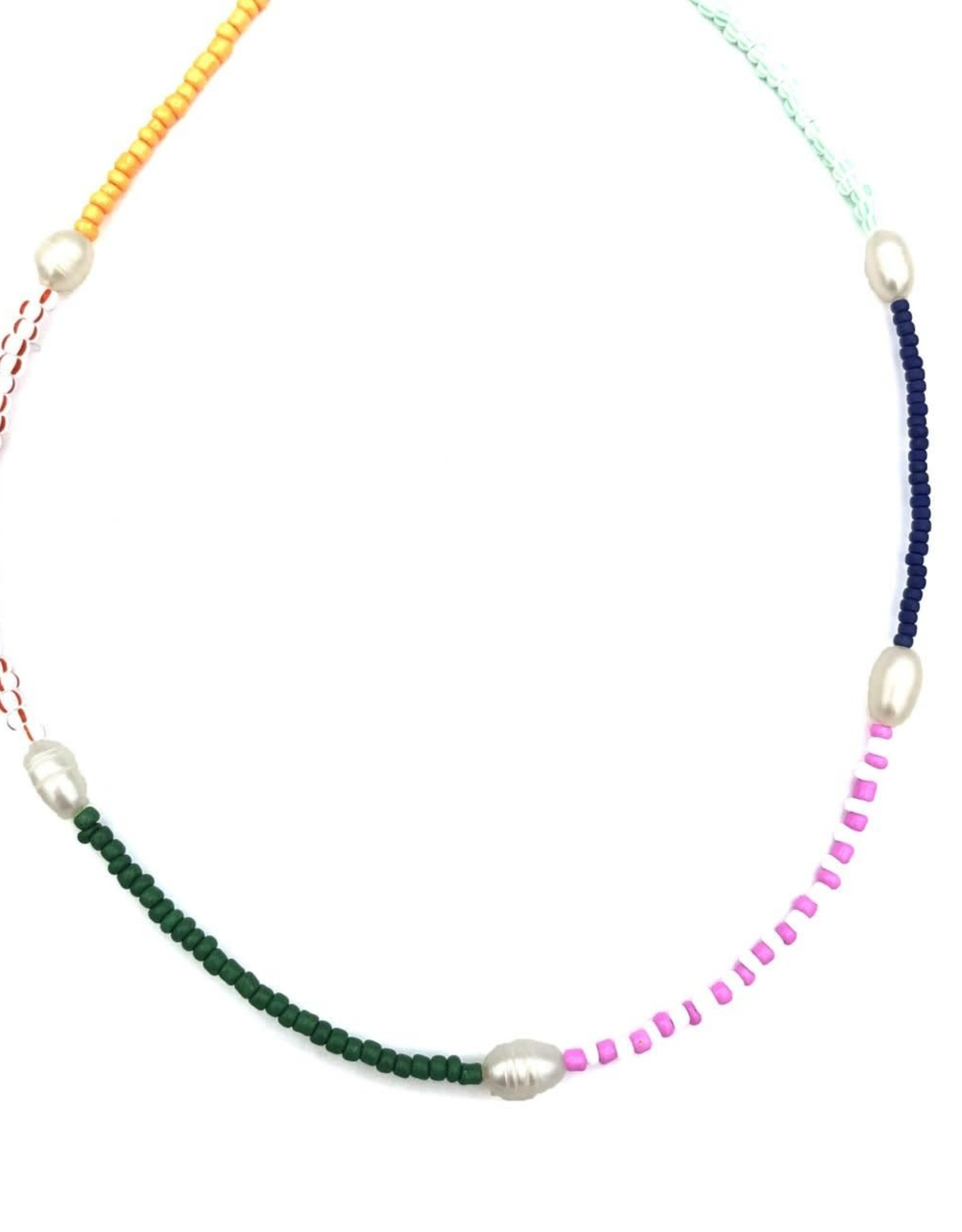The Golden House Multicolour pearl necklace