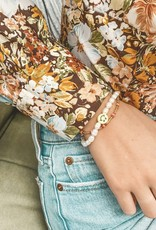 The Golden House Coral purple bracelet gold