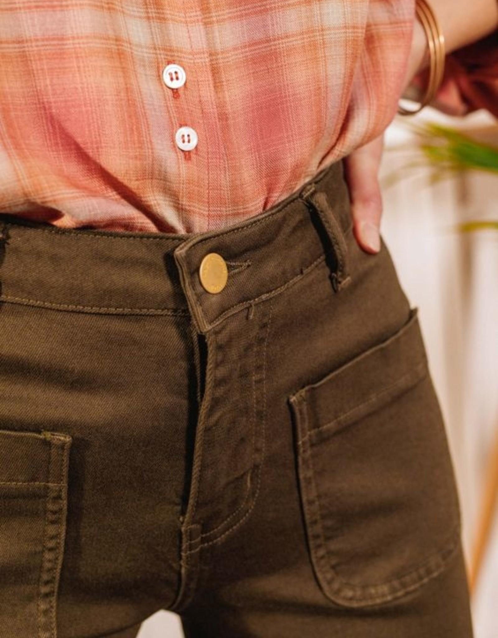 La Petite Etoile Jeans 'Sonny-Toile' - Khaki