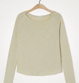 American Vintage T-shirt 'Sonoma' Boothals Lange mouwen - Zandkleur - American Vintage