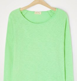 American Vintage T-shirt 'Sonoma' Boothals Lange mouwen - Groen - American Vintage