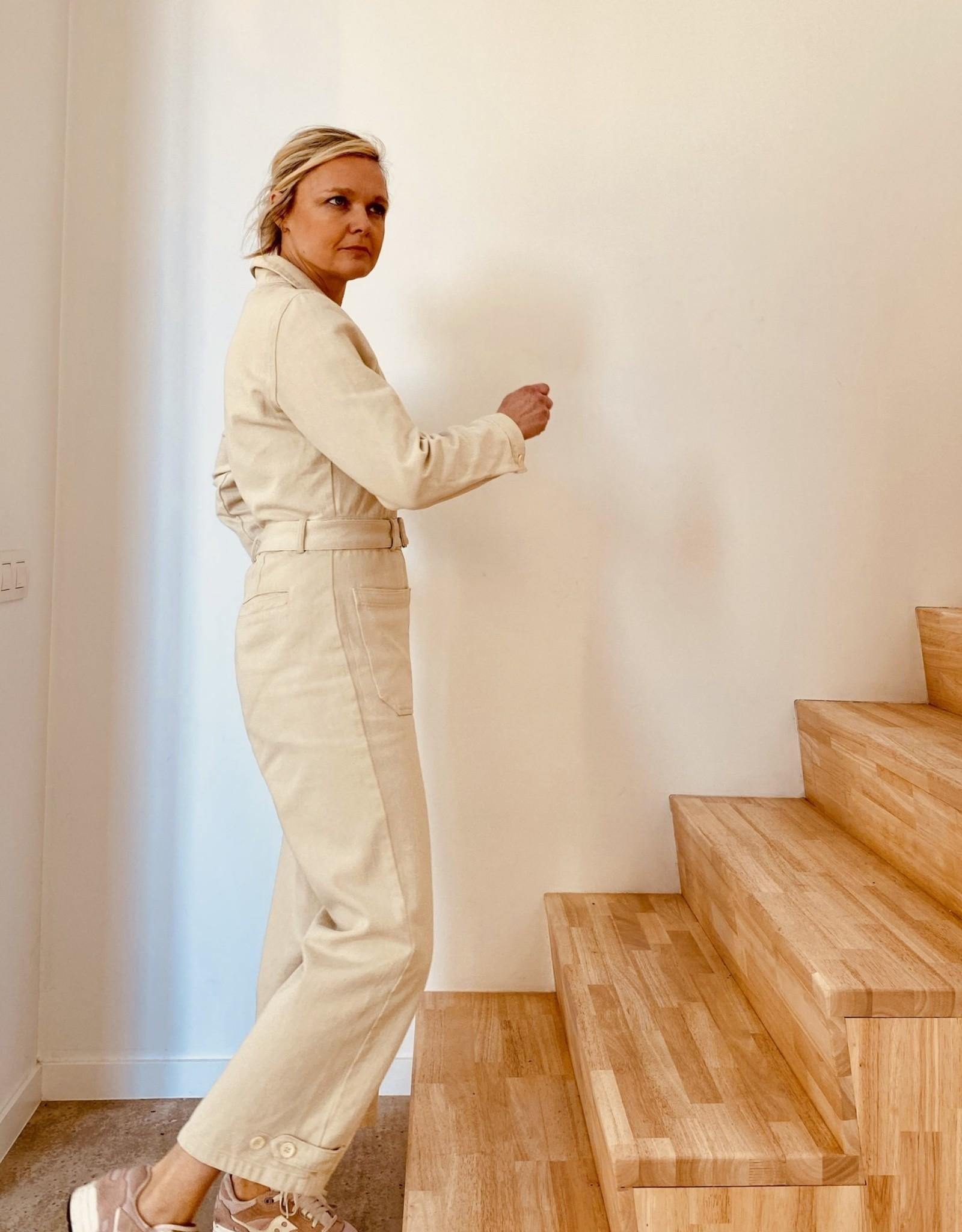 The Golden House Jumpsuit 'Mona' - Ecru