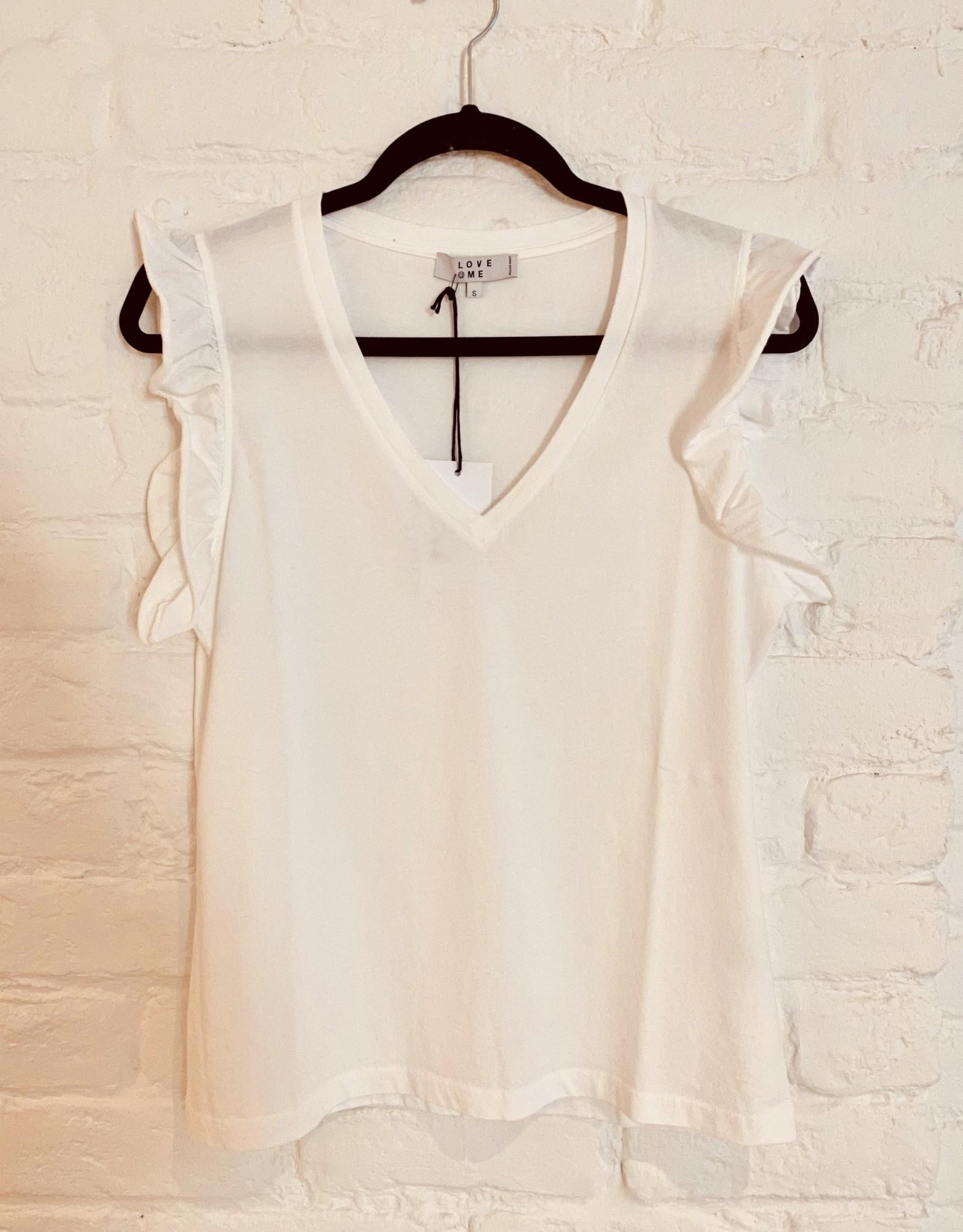 Love@me T-shirt 'Kim' - Wit