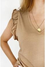 Love@me T-shirt 'Kim' - Camel