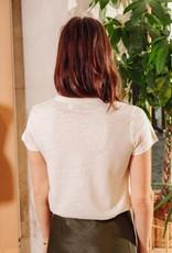 T-Shirt 'Schiele' - Wit/Goud