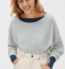 American Vintage Pull 'Damsville' Boothals - Gris Chiné - American Vintage
