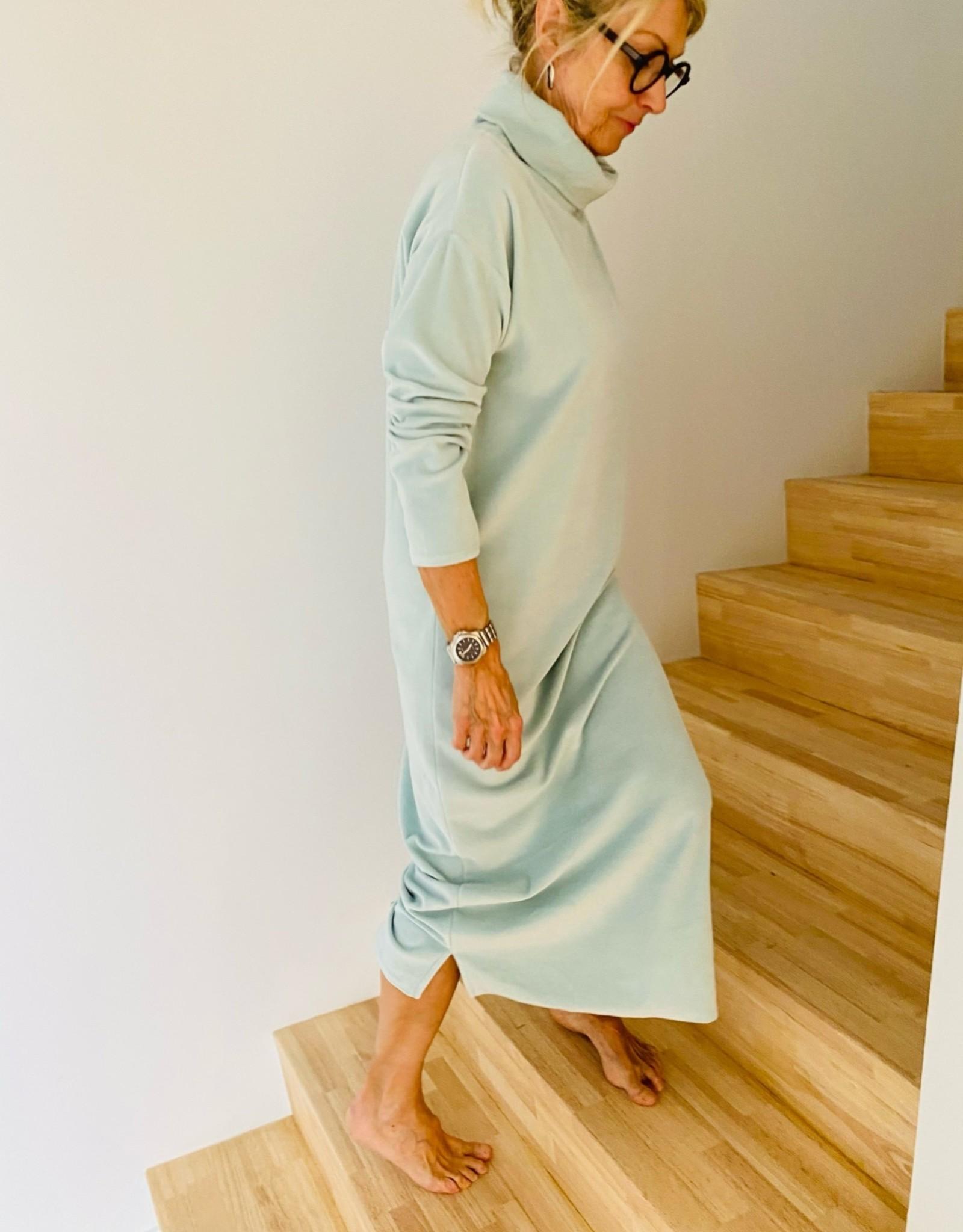 Happy 13 Jurk 'Nathalie' Velvet -  Cloud Blue