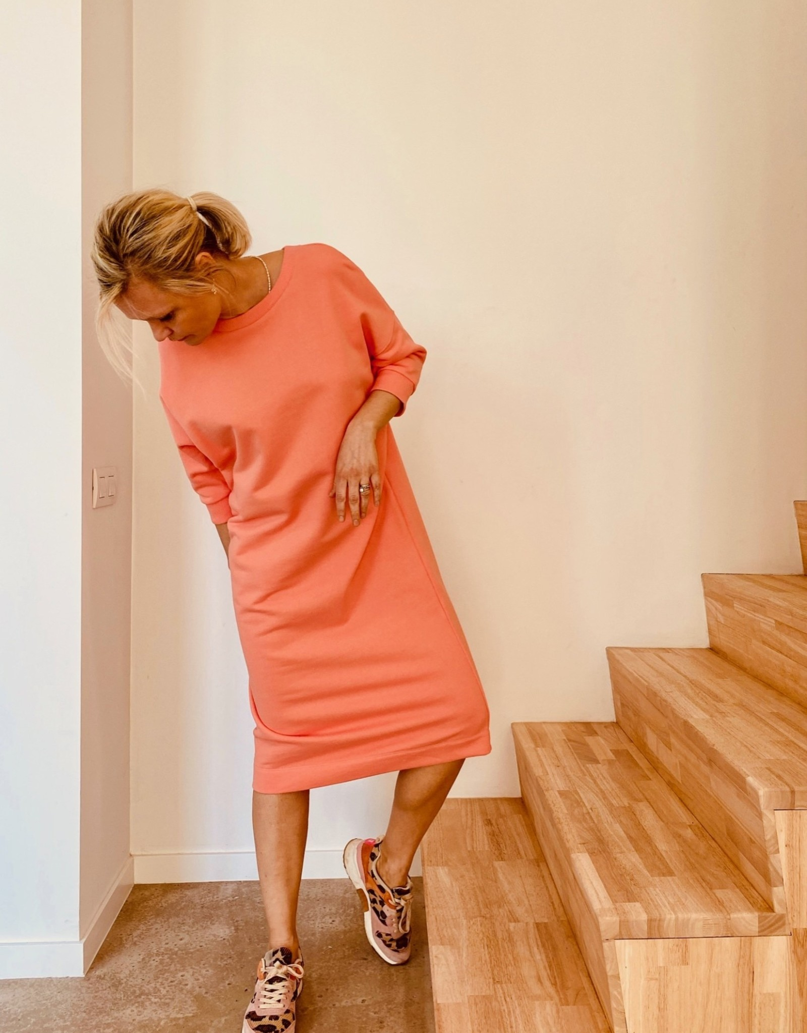 Happy 13 Sweaterdress 'Elisa' - Burnt Coral - Taille Unique