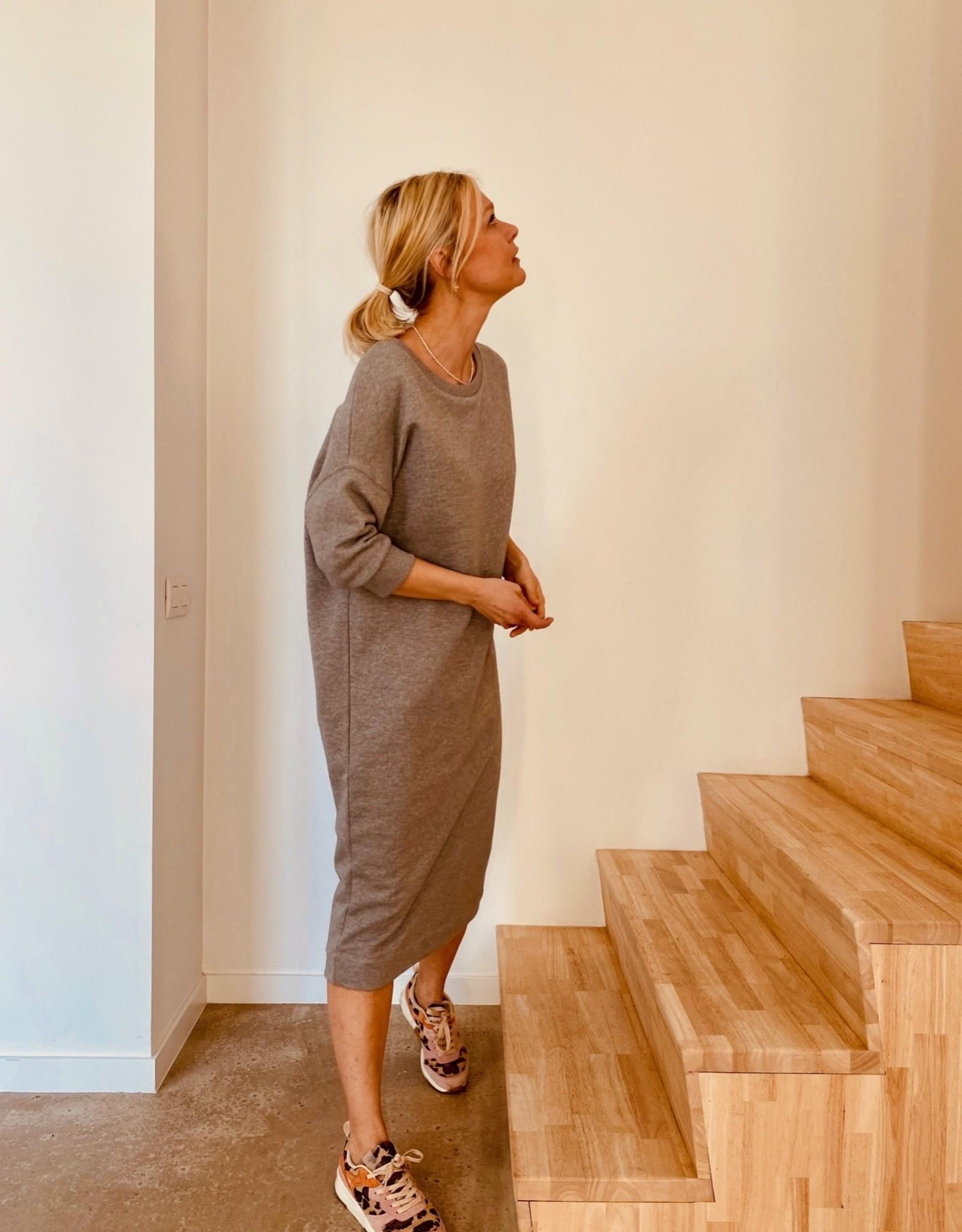 Happy 13 Sweaterdress 'Elisa' - Grey Melange
