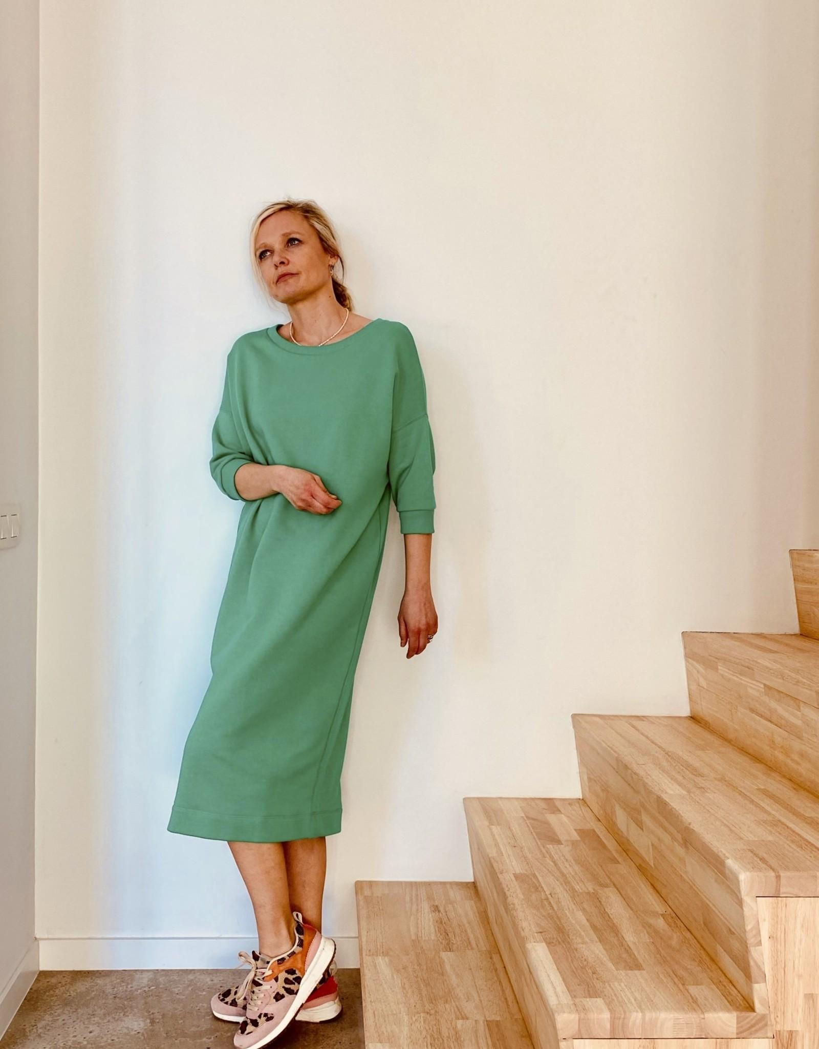Happy 13 Sweaterdress 'Elisa' - Groen - Taille Unique