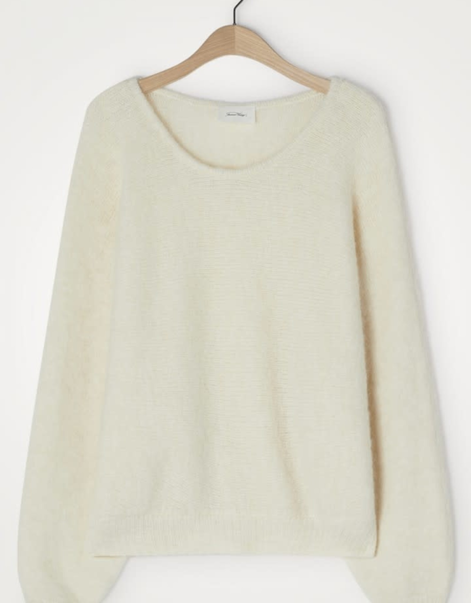 American Vintage Pull 'East' - Coll rond vleermuismouwen - Nacre Chiné - American Vintage