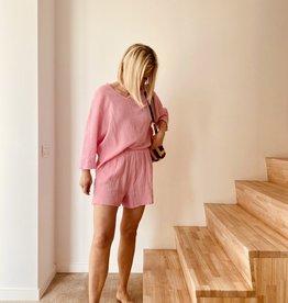 The Golden House Set Top & Short 'Elena' - Pink - Taille Unique