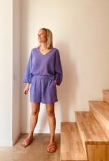 The Golden House Set Top & Short 'Elena' - Paars - Taille Unique