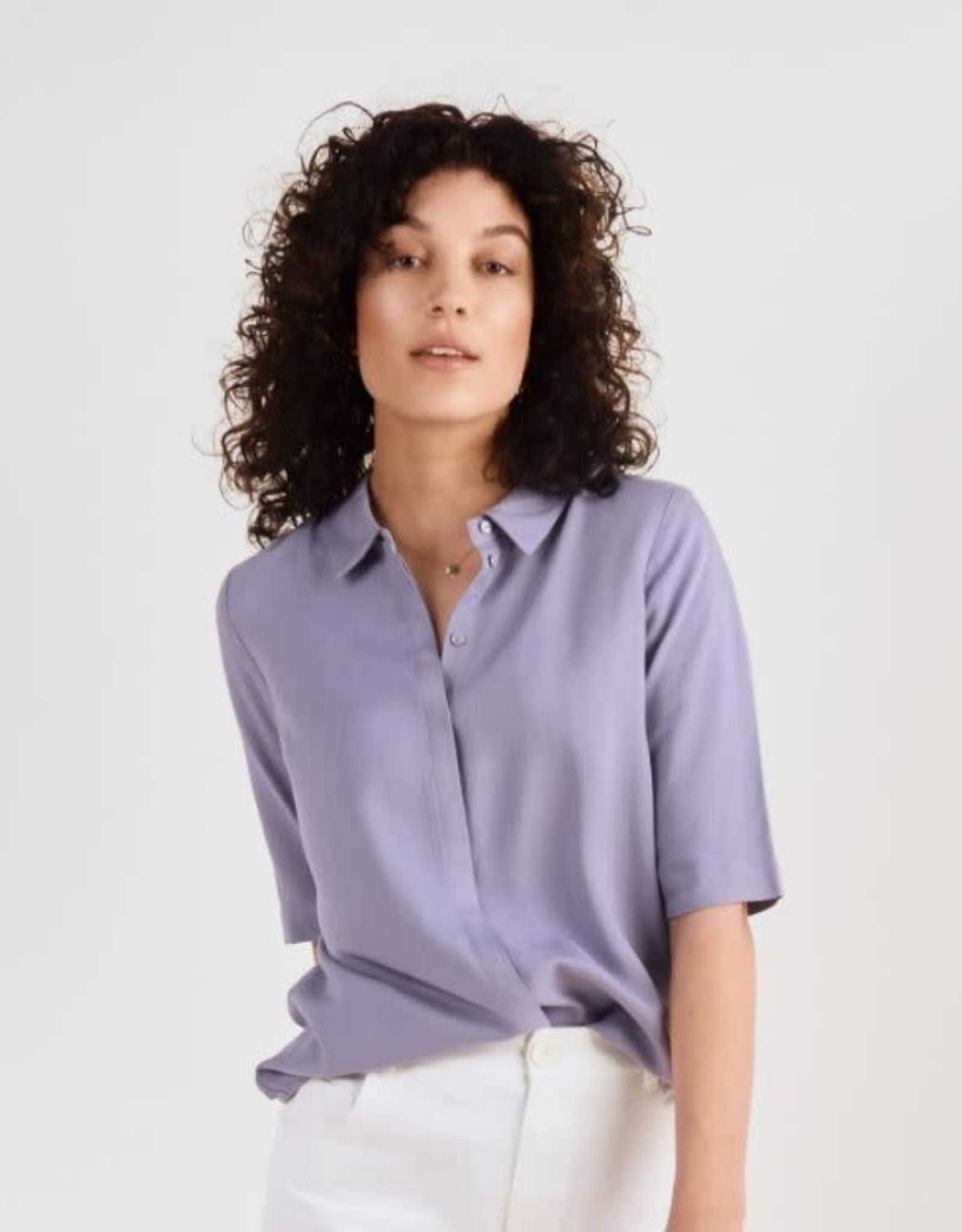 Another Label Blouse 'Bache' - Silver Blue - Another Label