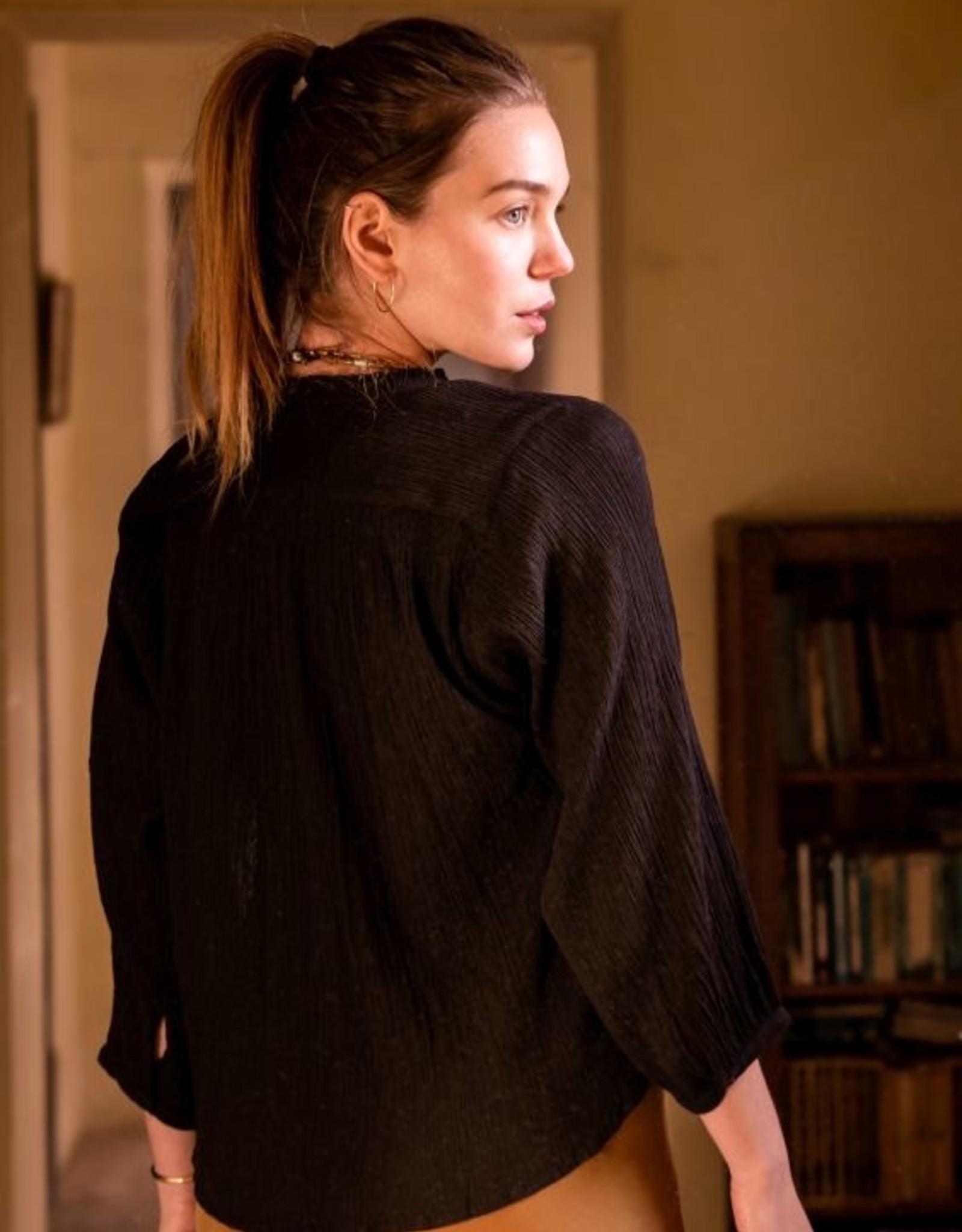 La Petite Etoile Blouse 'Amor' Zwart