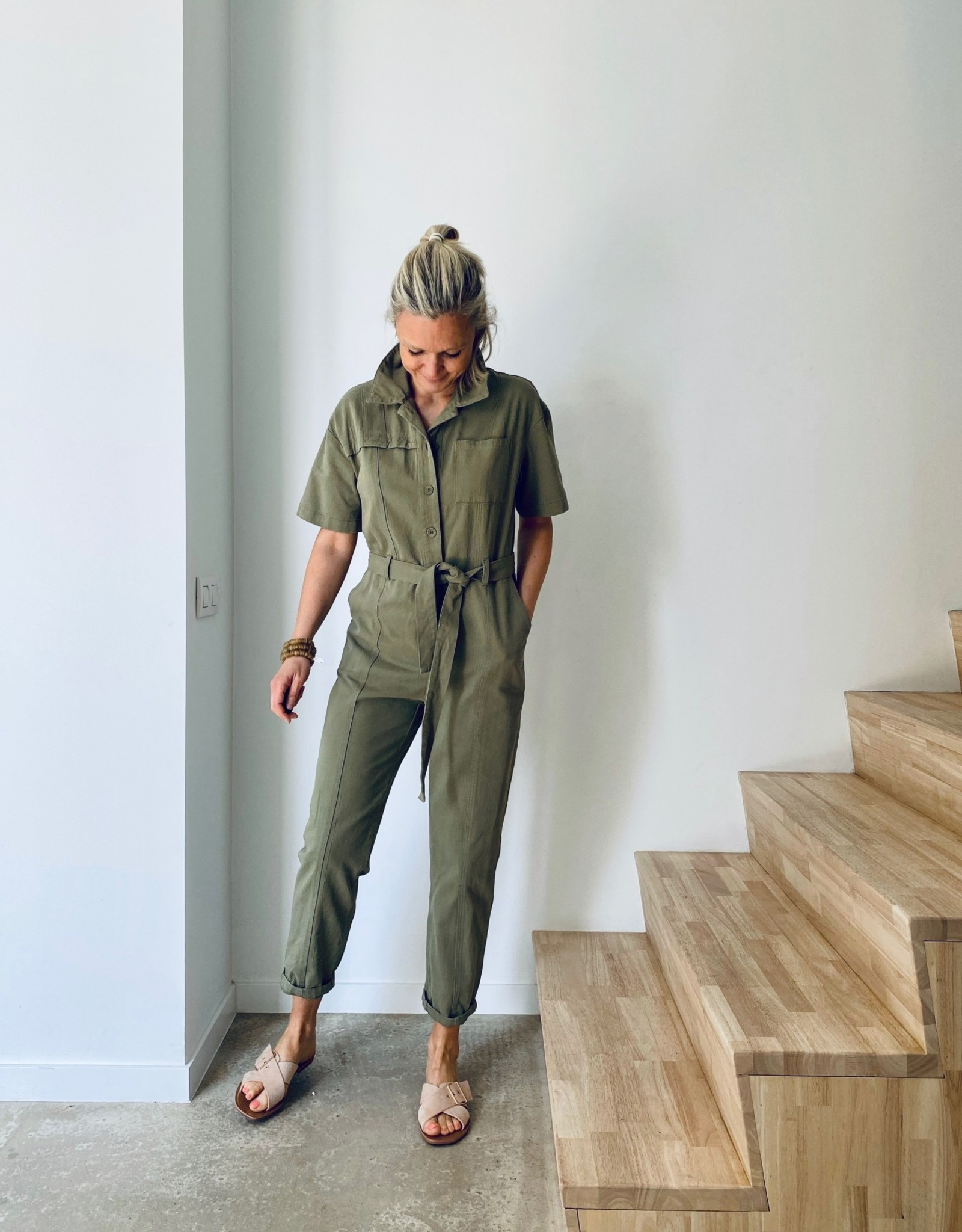 The Golden House Jumpsuit 'Leonie' - Kaki