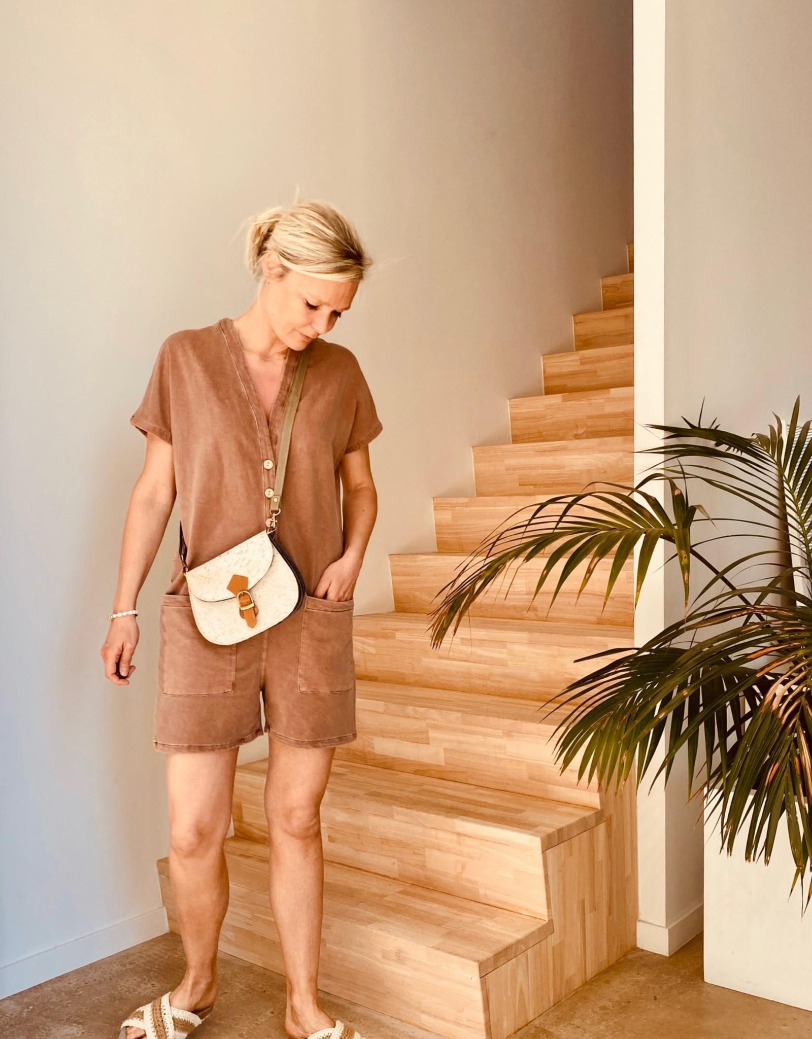 The Golden House Combishort 'Miami' - Cognac - Taille Unique
