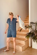 The Golden House Combishort 'Miami' - Blauw - Taille Unique