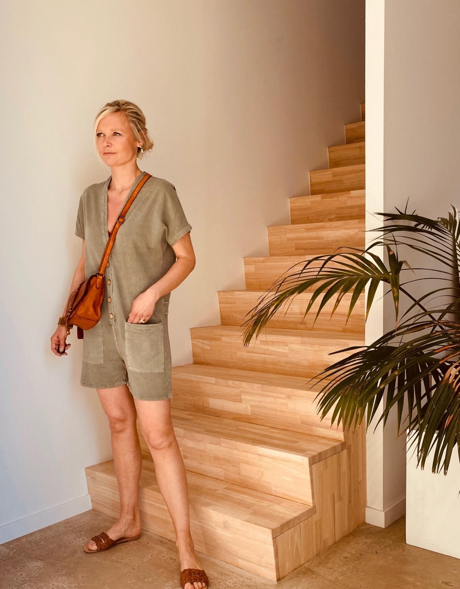The Golden House Combishort 'Miami' - Khaki - Taille Unique