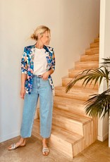The Golden House Blazer 'Alexia' - Fleuri Bleu