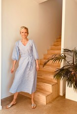 The Golden House Jurk 'Manuelle Check' - Light Blue