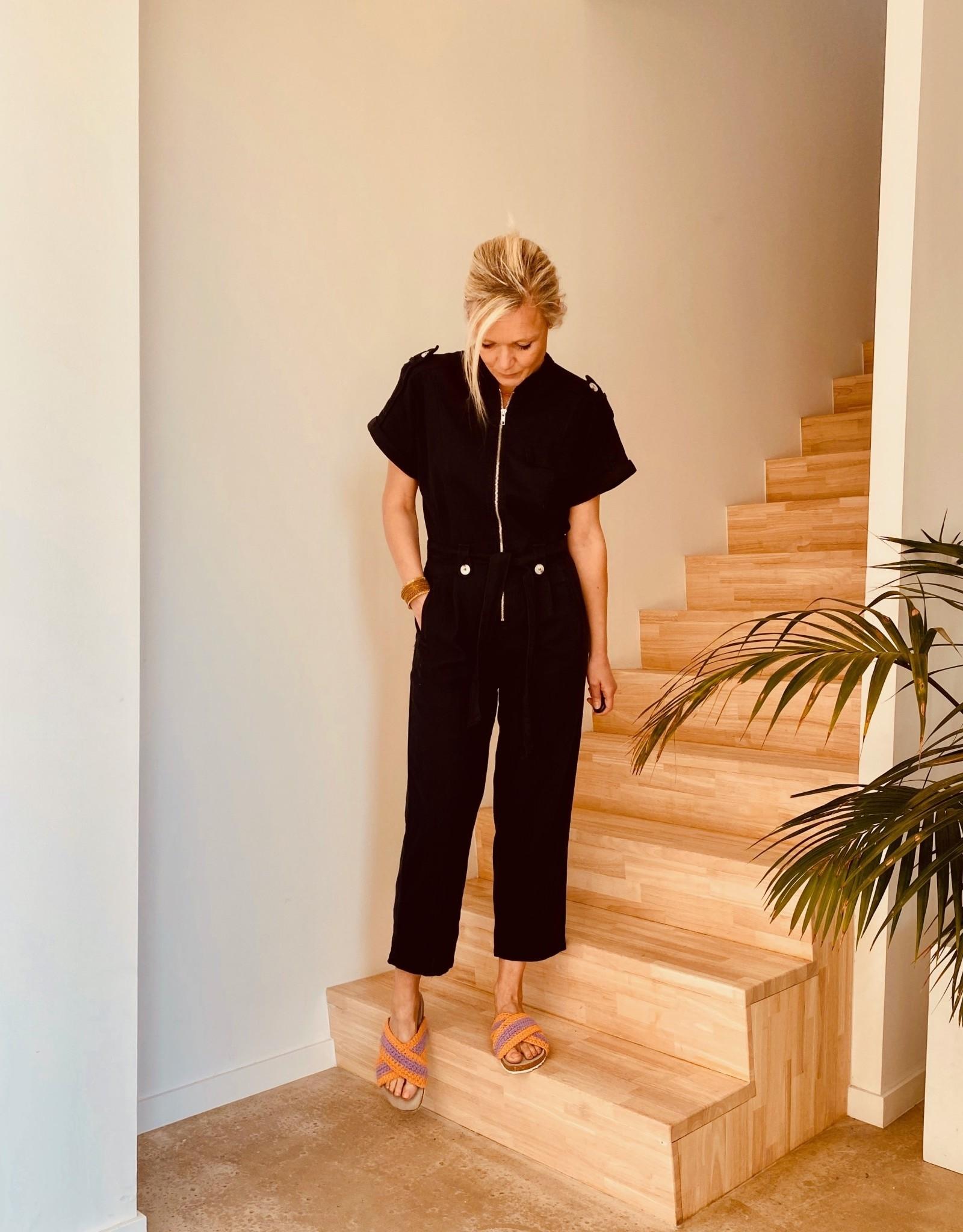 The Golden House Jumpsuit 'Lea' - Zwart - 100 % katoen