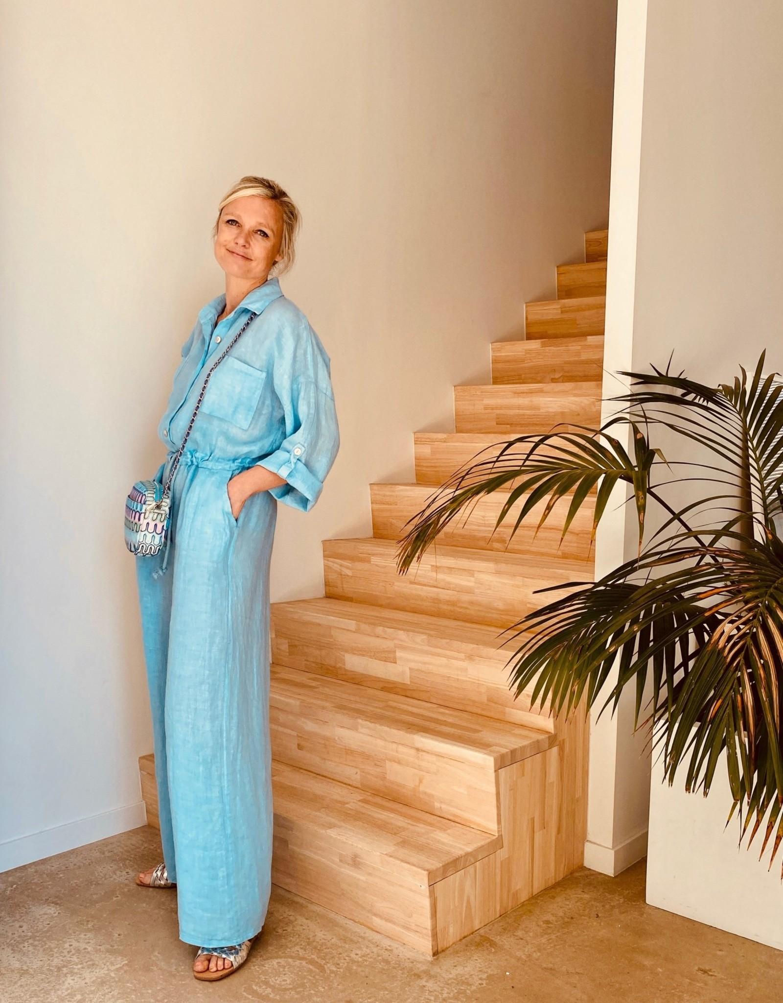 The Golden House Jumpsuit 'Firenze' - V341 - Taille Unique - Blue Ciel