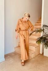 The Golden House Jumpsuit 'Firenze' - V341 - Taille Unique - Camel