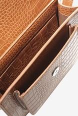 HVISK Handtas 'Cayman Pocket Matte Croco' - Ginger Bread Brown - Hvisk