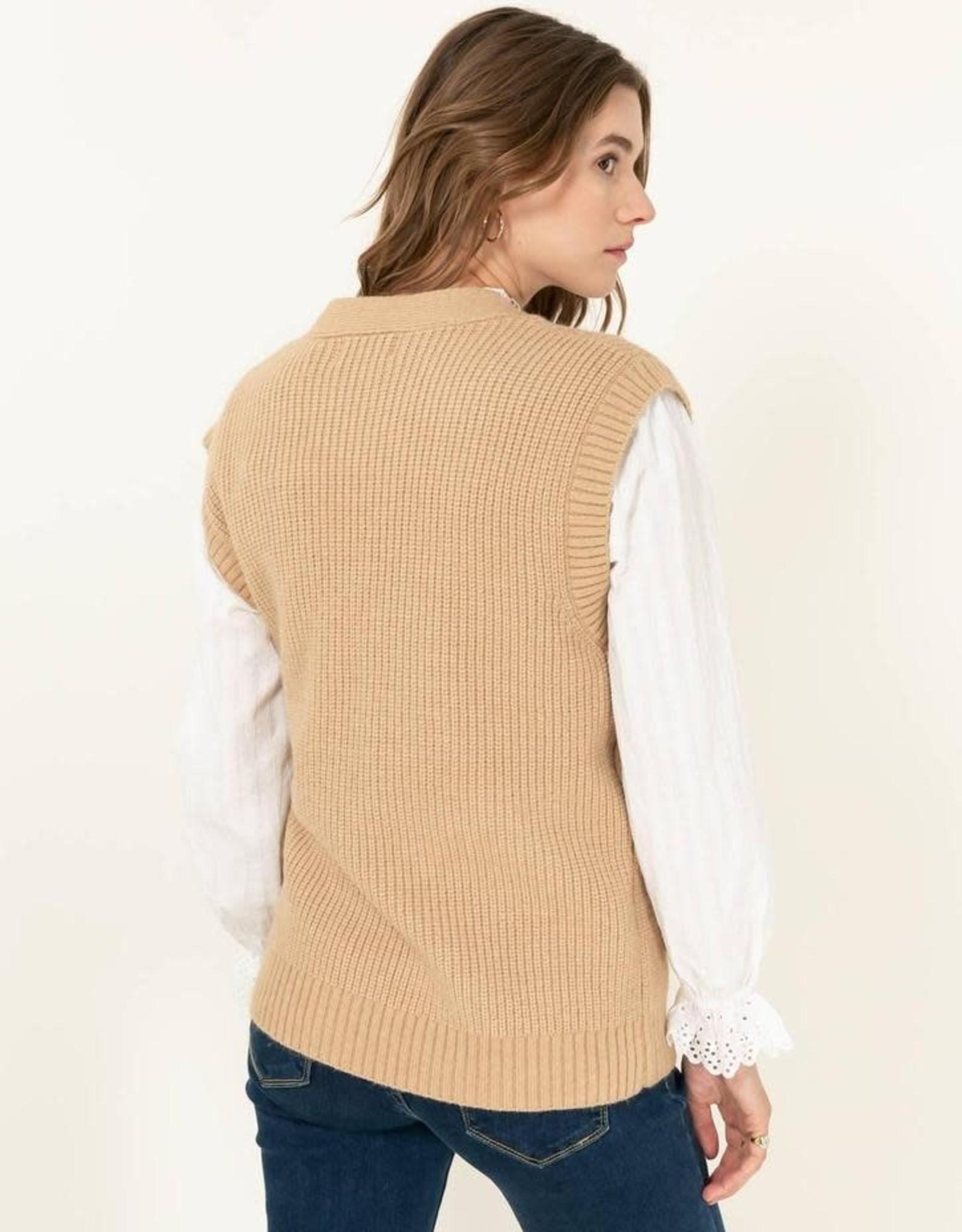 The Golden House Vest/gilet 'Evelyn' Camel