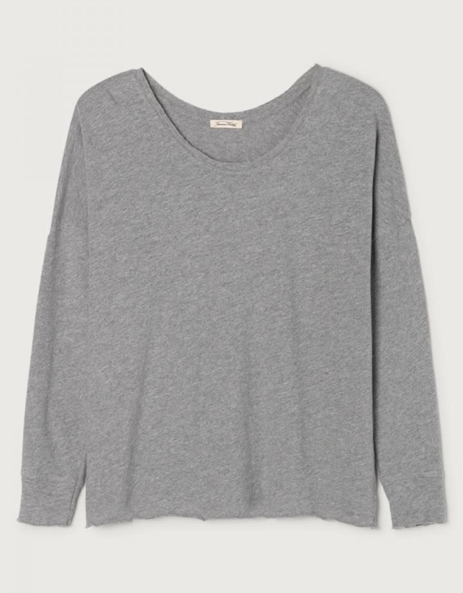 American Vintage T-shirt 'Sonoma' Recht Boothals - Grijs - American Vintage