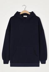 American Vintage Damessweater 'Ikatown' met kap - Navy - American Vintage