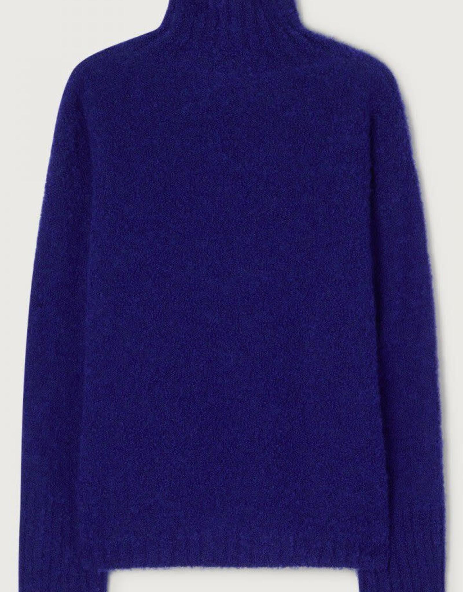 American Vintage Pull 'Verywood' Rolkraag - Koningsblauw - American Vintage