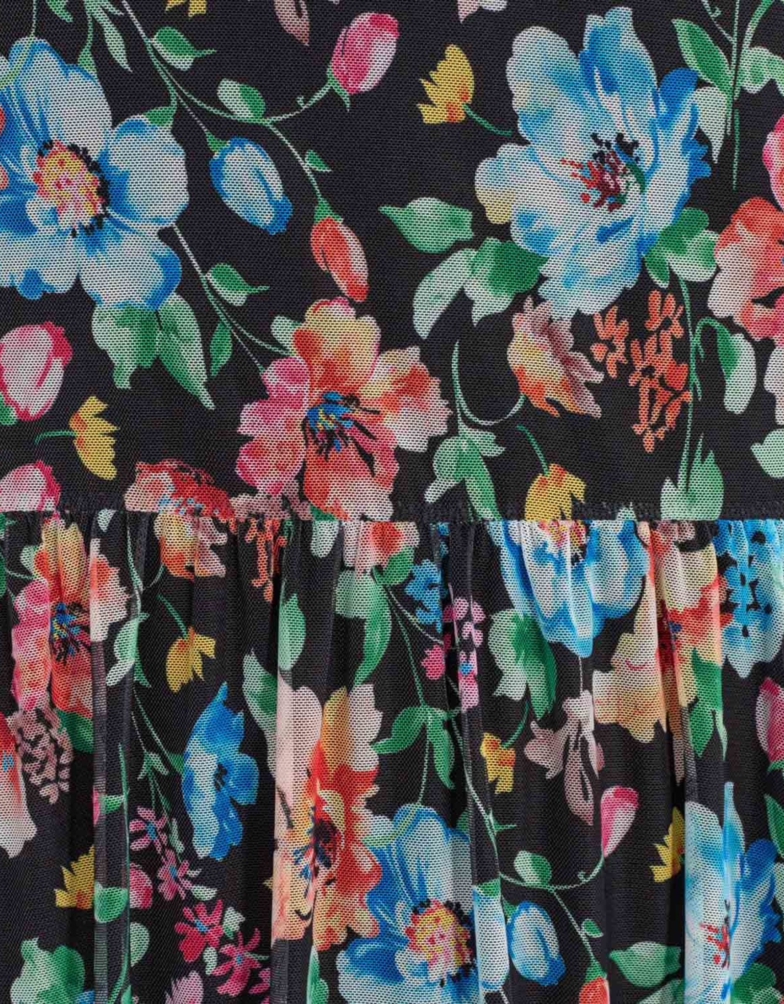 Moves Jurk 'Marisan' - Black Flowers