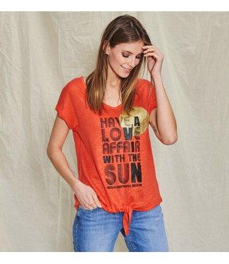 Au soleil de st-tropez Dames-t-shirt au soleil de st-tropez