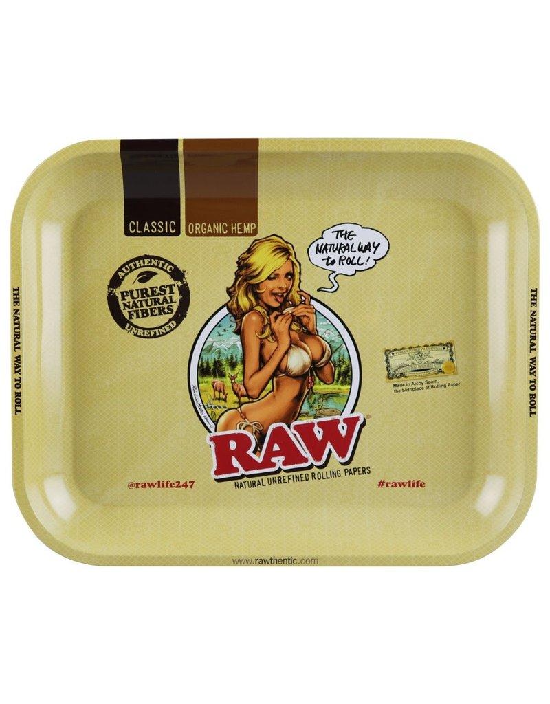 RAW Bikini Girl Rolling Tray