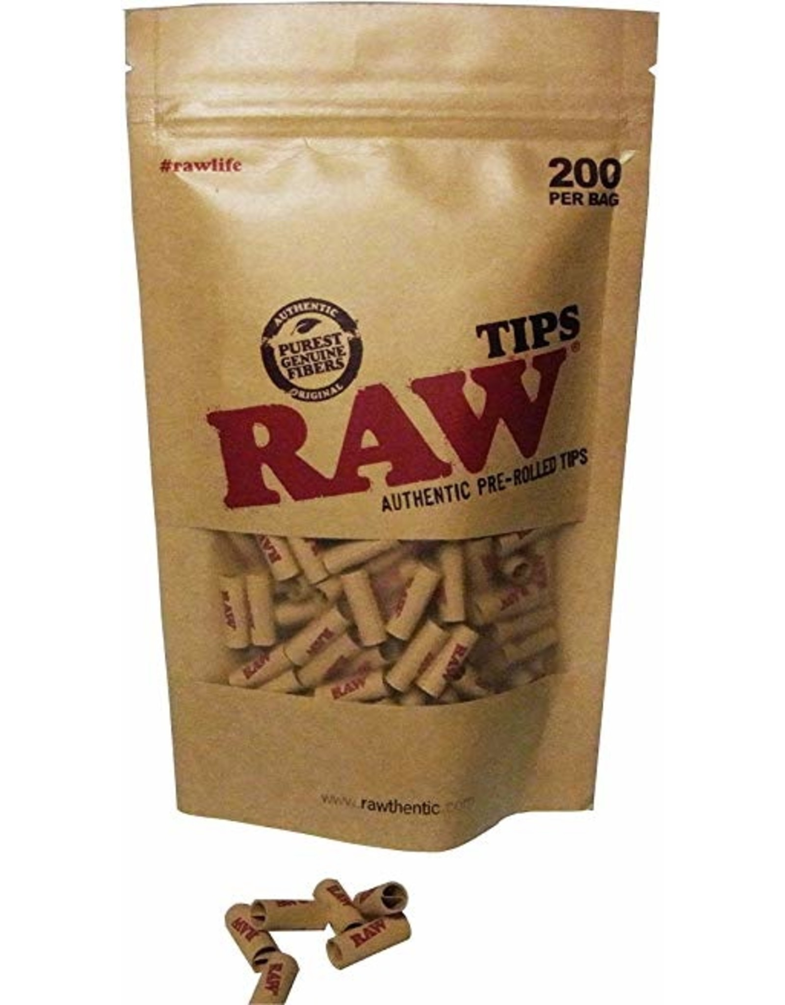 RAW Bag Pre-Rolled Tips RAW (200pcs)
