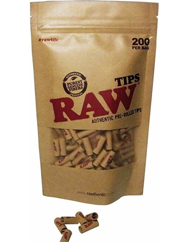 Bag Pre-Rolled Tips RAW (200pcs)